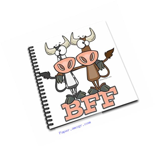 3dRose db_103854_1 Bff Cow Best Friends Forever Buddies-Drawing Book, 8 by 8-Inch