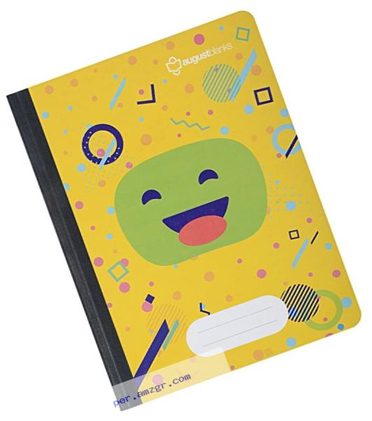 August blanks FSC Approved Social Impact Composition Notebook, Yellow, SINGLE (Compostion Yellow notebook)