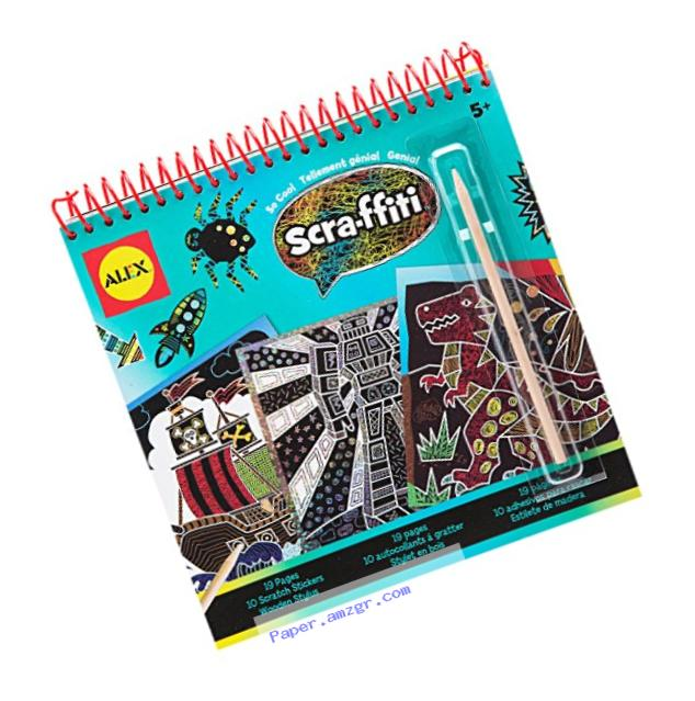ALEX Toys Artist Studio Scra-ffiti So Cool Artist Studio Scratch Pad Coloring and Sketch Book