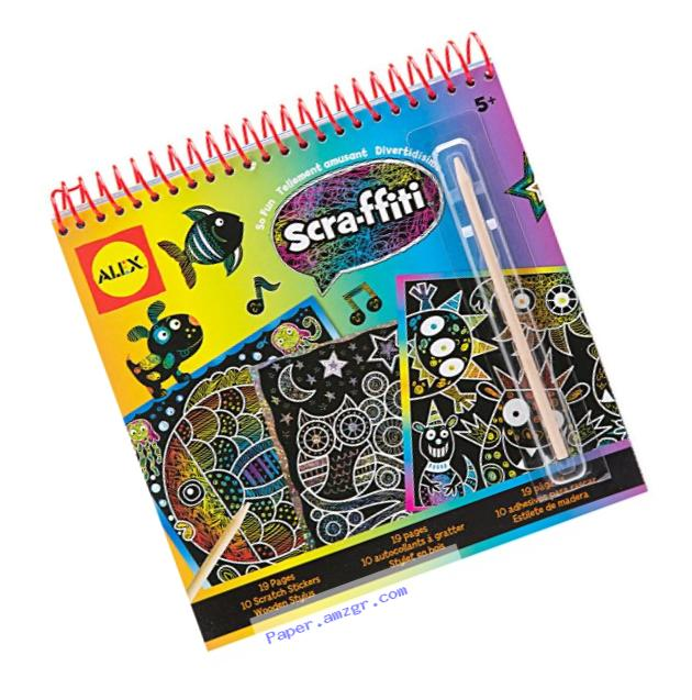 ALEX Toys Artist Studio Scra-ffiti So Fun Scratch Pad Coloring and Sketch Book
